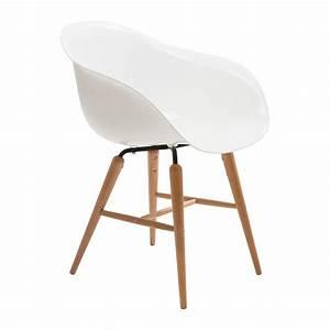 Chaise avec accoudoirs retro blanche forum kare design for Meuble salle À manger avec chaise blanche