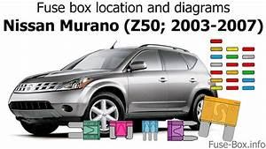 Fuse Box Location And Diagrams  Nissan Murano  Z50  2003