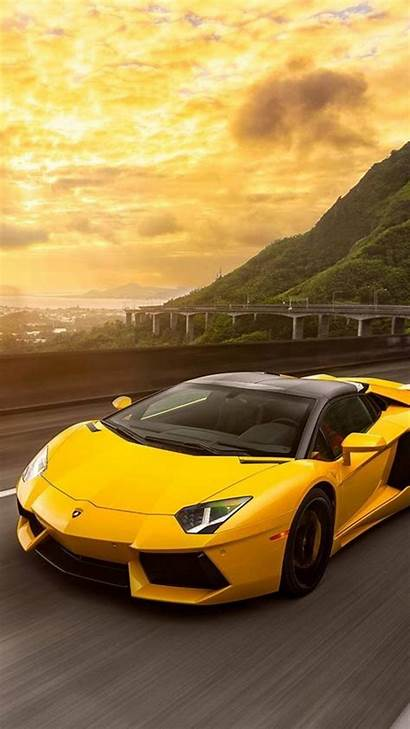 Lamborghini Aventador Sari Wallpapers Araba 4k Iphone