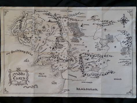 hand drawn map  middle earthx post  rpics lotr