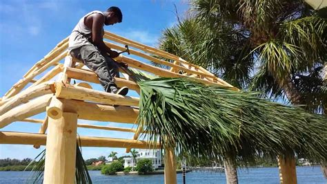 Tiki Hut Roof Construction by The History Of Tiki Huts