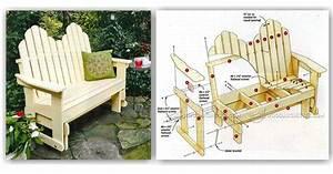 Adirondack Glider Bench Plans • WoodArchivist