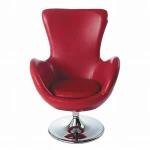 fauteuil rouge tulipe maisons du monde With fauteuil tulipe