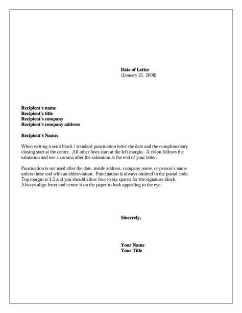 formal business letter format ideas