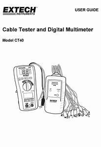 Extech Instruments Ct40 User Manual Pdf Download