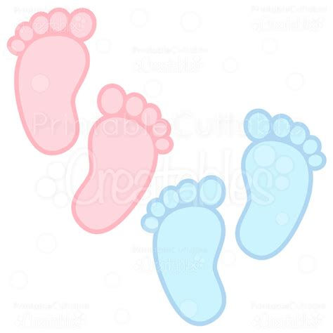 Baby Footprints Free Svg Cuts & Clipart