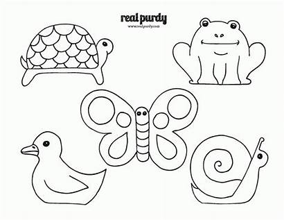 Stick Coloring Puppets Printable Popsicle Animal Templates
