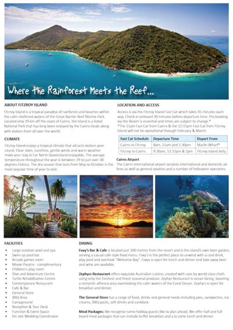 Island Brochure Template by 9 Best Hotel Fact Sheet Images On Brochures