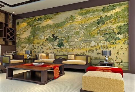 livingroom wall living room wall design and ancient painting