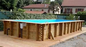Piscine Semi Enterré Bois : piscine semi enterre desjoyaux devis piscine with piscine ~ Premium-room.com Idées de Décoration