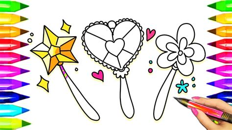 magic wand coloring pages learn colors  kids