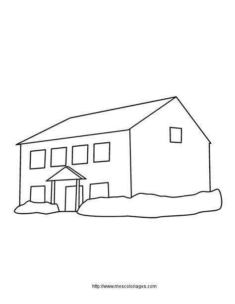 coloriage batiments maisons 224 colorier allofamille