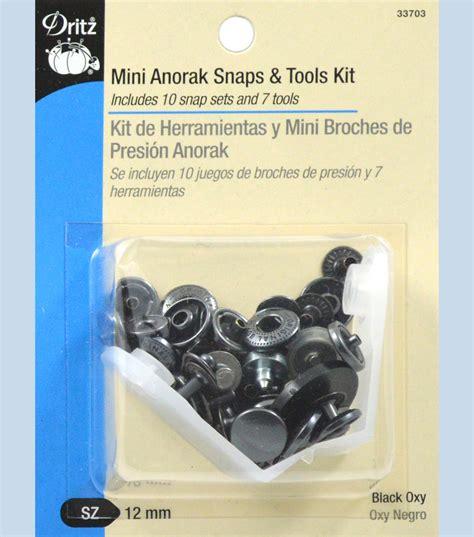 black mini anorak snaps  tools   joann