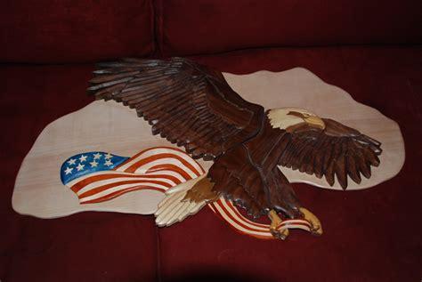 woodworking  sale intarsia eagle large size