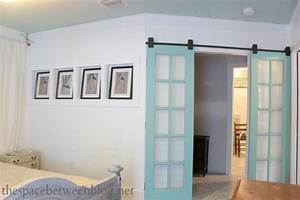 upcycling idea – reclaimed french doors on rolling door