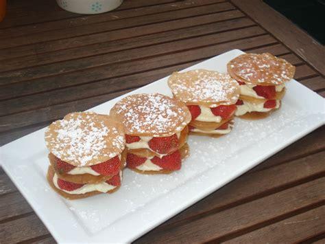 dessert avec feuille de brick millefeuille express fraises mascarpone apprenti gourmet