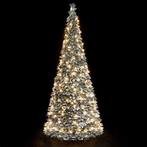 pre lit snow flocked pop up christmas tree 1 8m 200 warm