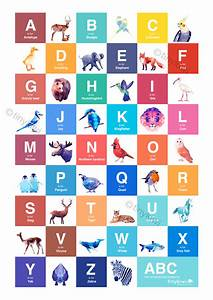 abc poster abc art alphabet poster geometric print With alphabet letter art prints