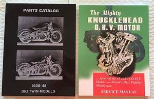 Harley Knucklehead Parts Book Service Manual Combo 1936