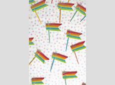 Edible Rainbow Flag Cupcake Toppers DIY