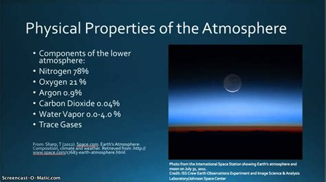 Physical Properties Of The Atmosphere Youtube