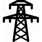 Grid Power Icon Electricity Clipart Generation Electric
