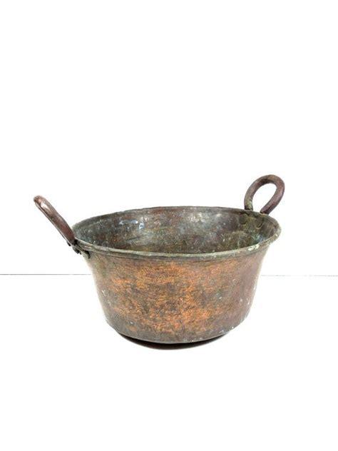 antique copper pot french country copper pot  citygirlantiques copper cookware copper