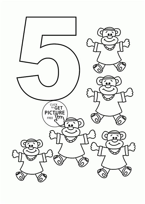 number  coloring pages  kids counting sheets