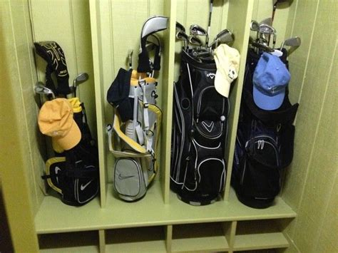 images  golf clubs storage  pinterest