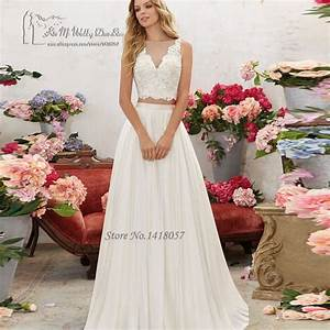 aliexpresscom buy vintage 2 piece wedding dress lace With where to buy boho wedding dresses
