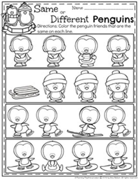 january preschool worksheets planning playtime 998 | Same or Different Penguins