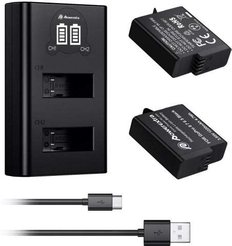 powerextra rechargeable battery dual charger