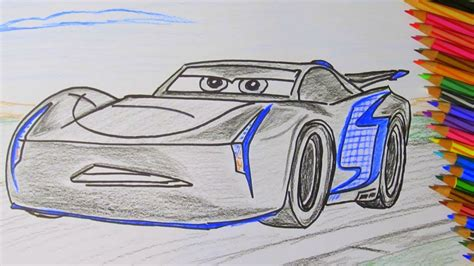 How To Draw A Cartoon Disney Pixar Cars 3 Jackson Storm