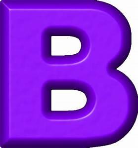 Presentation Alphabets: Purple Refrigerator Magnet B