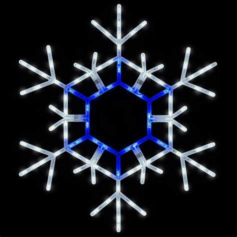 snowflakes stars  led folding snowflake blue
