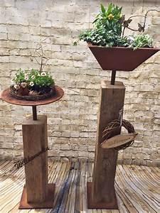 Dekorationen Aus Holz : die 25 besten ideen zu gartendeko rost auf pinterest rost deko garten gartendeko metall und ~ Yasmunasinghe.com Haus und Dekorationen
