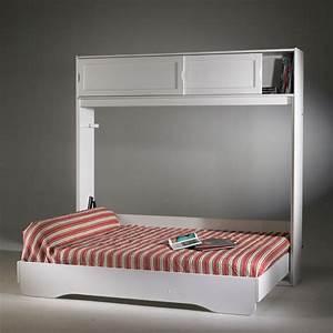 armoire lit escamotable fidji dcopin secret de chambre With tapis jaune avec canapé lit armoire