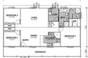 Bedroom Floor Plan With Dimensions by 3 Bedroom Bungalow Floor Plan Studio Design Gallery