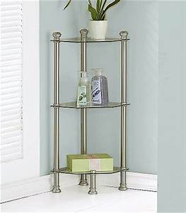 small corner etagere in bathroom shelves With small bathroom etagere