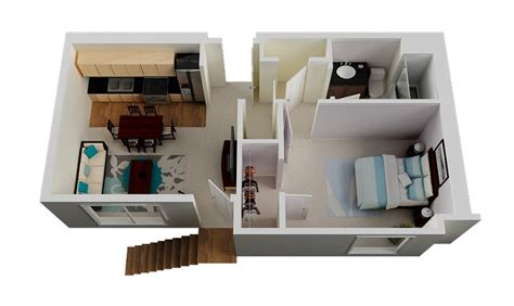1 Bedroom House Floor Plans 1 Bedroom Small House Plan Interior Design Ideas
