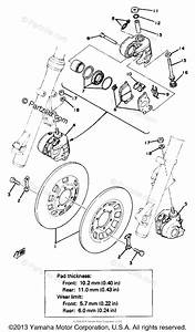 Yamaha Motorcycle 1978 Oem Parts Diagram For Front Disc