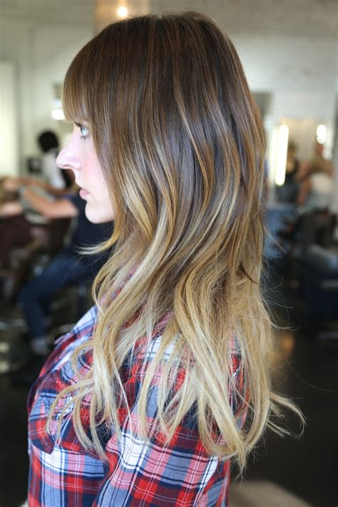 Before And After Added Length And Ombre Neil George