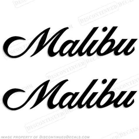 Malibu Boat Decals For Sale by Malibu Boat Decals Set Of 2 Any Color