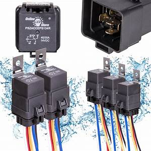 5 Pack Ols 40  30 Amp Waterproof Relay Switch Harness Set