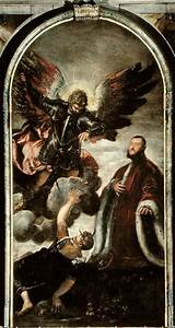 Archangel Michael vanqishing Lucifer in - Jacopo Robusti ...