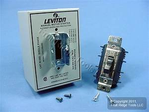 Leviton Motor Starter Switch Dpst 2