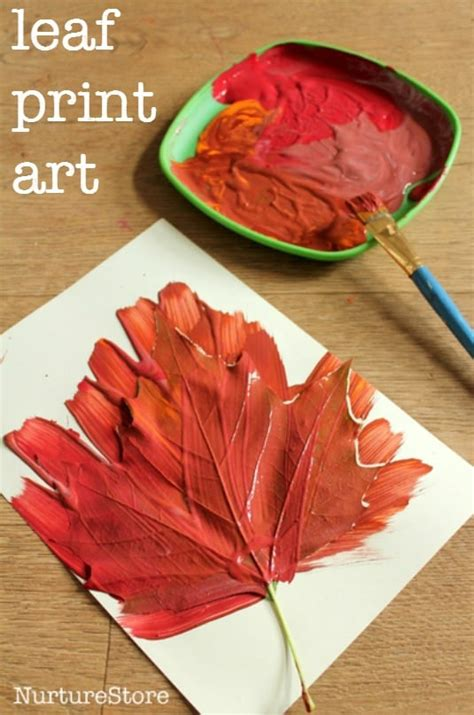 autumn leaf print crafts nurturestore 543 | fall leaf print art