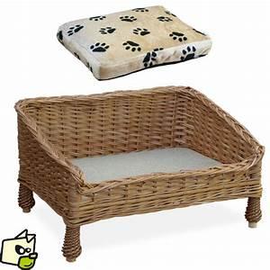 lit en osier pour faire dormir chien et chat With canapé lit pour chien