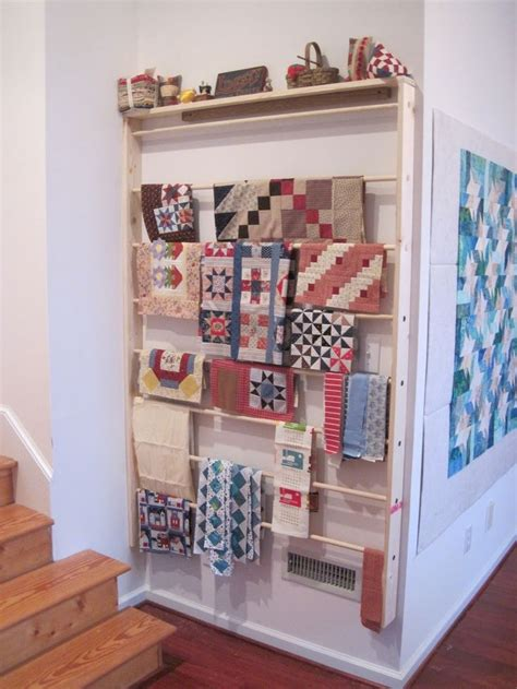 wall mounted quilt rack plans woodworking projects