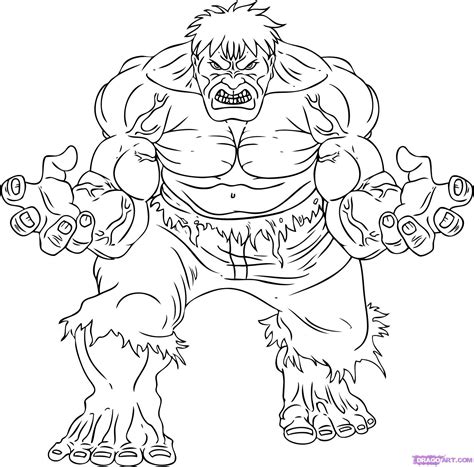 Hulk Coloring Book Pages Incredible Grig3org